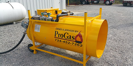 Construction Heaters & Propane Heaters in PA | ProGas, Inc